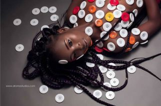 Buttons Used As Body Art for Photo Shoot