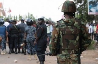 Scuffle Between Police And Military At Michel Camp