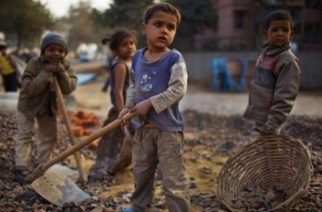"Children worldwide face poverty, conflict, and ""childhood-ending"" events like being forced into work."