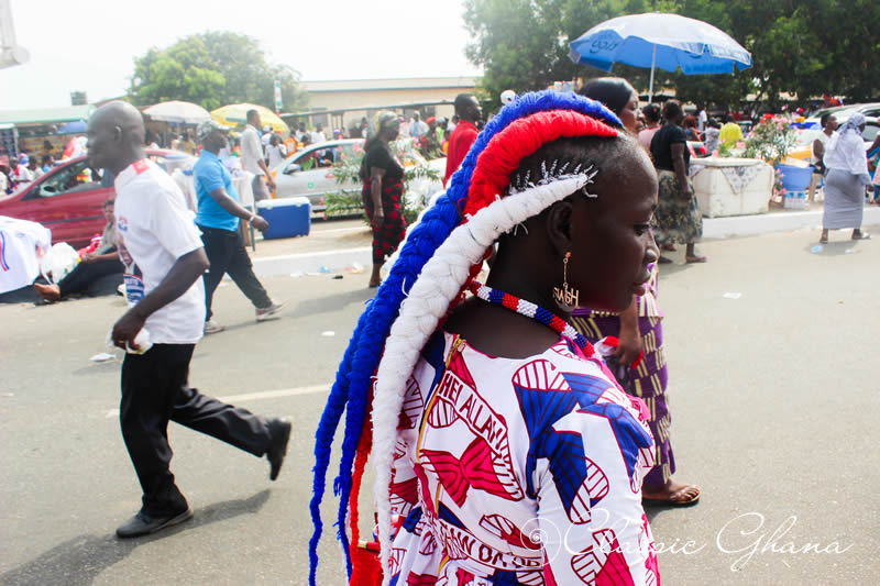 Hairstyles Of NPP Supporters During Akufo-Addo Inauguration in 2017