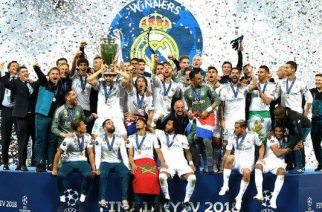 Real Madrid have become the first team to win the European Cup/Champions League in three successive seasons since Bayern Munich between 1974 and 1976.
