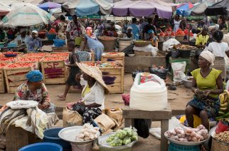 Market in Agbogbloshie, a district in Accra, Ghana's capital [Thomas Imo/Photothek via Getty Images]