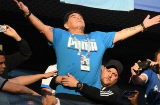 Diego Maradona has been at all of Argentina's 2018 World Cup games