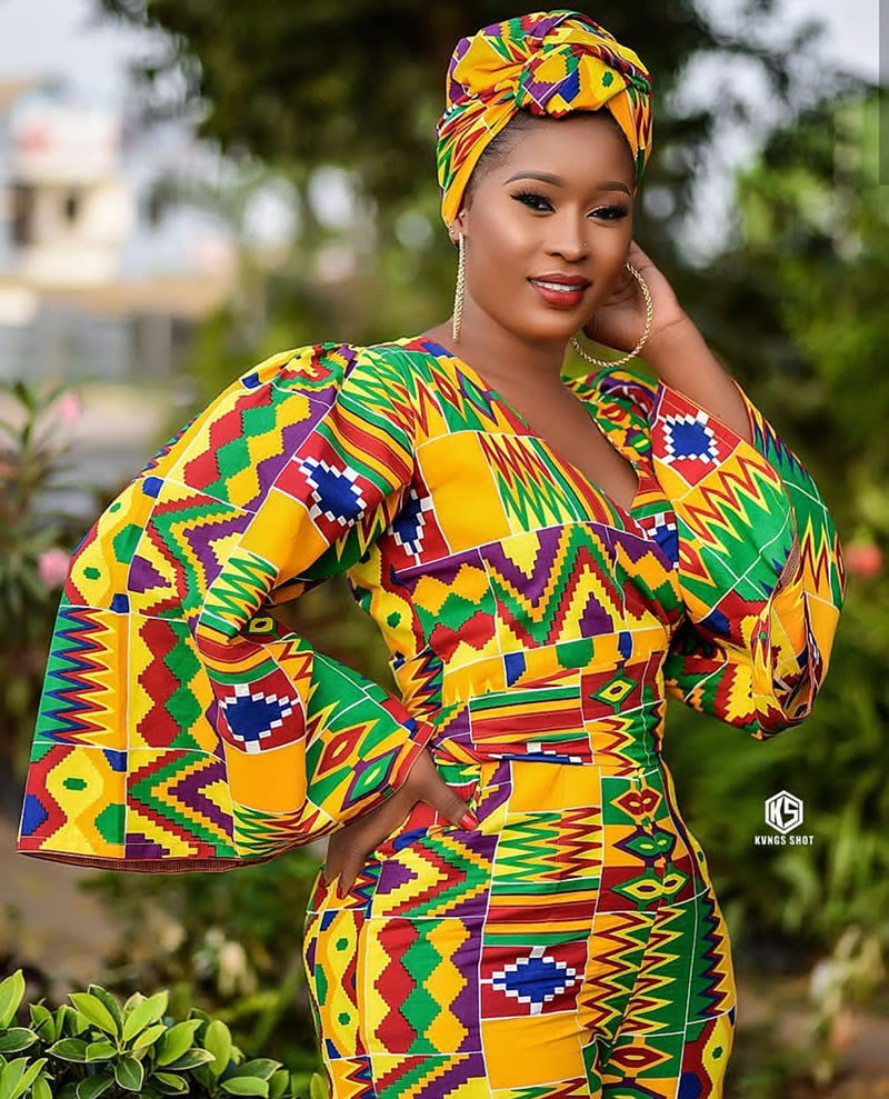 Fabulous Kente Print Editorial By New Ghanaian Fashion
