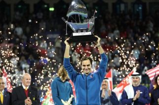 Federer is only the second man to win a ton of ATP titles