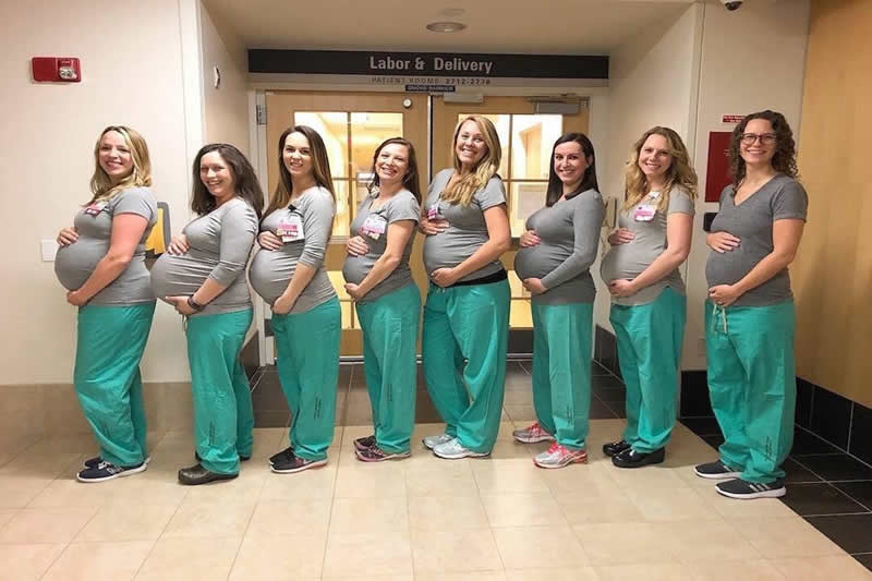 Nine Nurses In The Same Labor Unit Are All Due At The Same Time