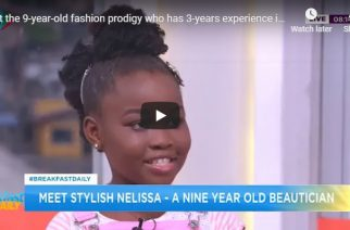 Video: Meet The 9-Year-Old Fashion Prodigy Who Has 3-Years Experience In Hair Styling