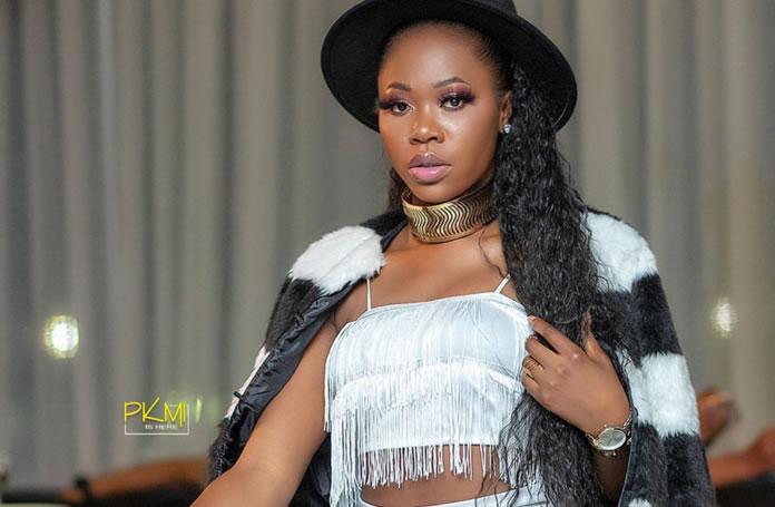 Ghanaian Rapper Freda Rhymes In Her Fashionable Haute Fringe Dress & Fur Jacket