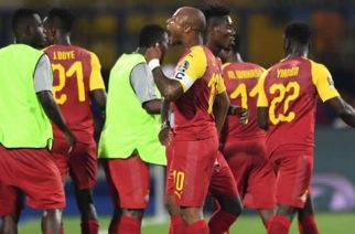 Ghana captain Andre Ayew equalised for the Black Stars following Mickael Pote's early opener
