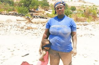 39-year-old Charity Kissi and her three-year-old daughter