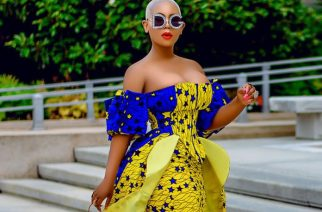 Liberian Beauty, Sarlea Mah In A Fabulous  African Dress With D&G Sun Glasses On