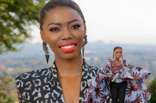 """Lerato """"Lira"""" Molapo gets her own Barbie doll. Pic credit: The Citizen"""