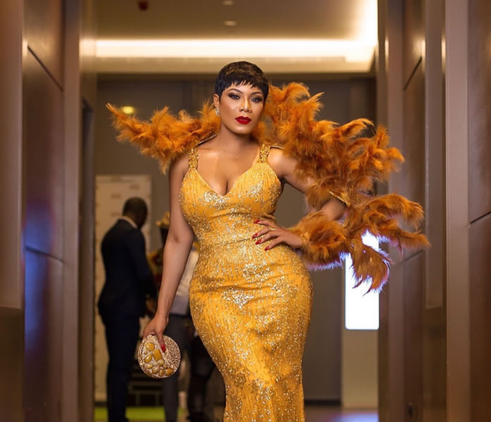 Zynnelle Zuh Stun Like A Peacock Whilst Shutting Down The Golden Movie Awards Red Carpet