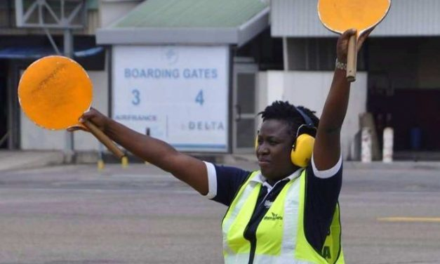 Defying all odds: From Koko seller to first Female Aircraft Marshaller in Ghana, Meet Felicia Edem Attipoe