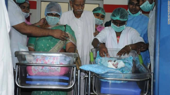 Indian Woman Gives Birth To Twins At Age Of 73