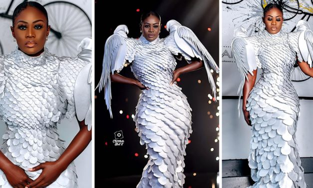 Glitz Style Awards: Nana Akua Addo Wore Amazing Angelic Style Dress On The Red Carpet
