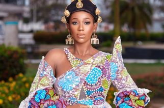 Actress Ama K Abebrese Covers Black Star Gate With The Longest African Print Gown For The GALA Night