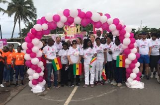 Thousands Walk Against Breast Cancer In Cape Coast