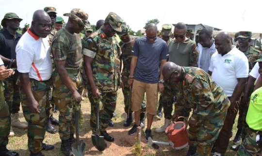Chief Of Army Staff Leads Tree Planting Exercise In Tamale