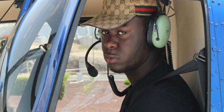 Emanuel Poku was pictured enjoying a helicopter ride in Mexico