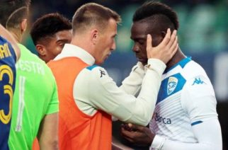 Brescia's Mario Balotelli threatened to walk off the pitch after receiving racist abuse during their away game against Hellas Verona