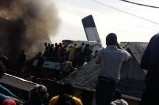 People gathered at the scene of the crash attempting to help any survivors