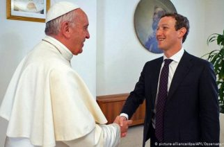 Pope Francis and Mark Zuckerberg
