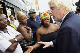 As mayor of London, one of Johnson's trickiest moments was dealing with Black Britons during the London riots of 2011. Photo Credit: Boris Johnson