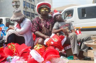 Madam Christie, who sell Christmas hat says sales is better than last year. She make revenue of GH¢300 a day mostly.