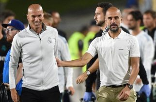 The draw pits Zidane Zidane (left) against Pep Guardiola for the first time as managers