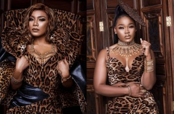 The Juicy Images Of Zynelle Zuh & Ceec As They Star In 'Elegance By Tiana's' Leopard Print Outfits