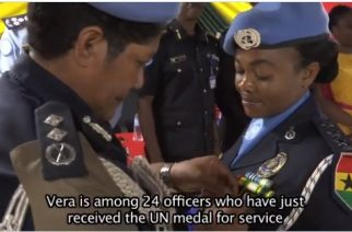 A Proud Day For Ghanaian Peacekeepers As 24 Police Officers Get UN Medal