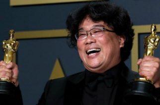Bong Joon-ho also won best director for Parasite