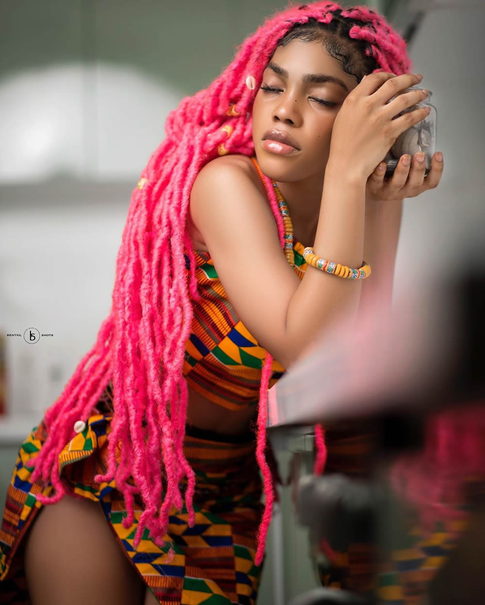 Hot Shots Of Two African Beauties In Kente Prints Fashion