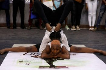 Ifeoma Amazobi, 22, was one of the main organisers of the show, which was aimed at gaining recognition for the art. (REUTERS)