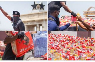 Ghanaian Self-Made Millionaire Cheddar Donates Lockdown Relief Items To The Needy