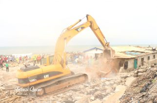 Photos: AMA Demolishes Structures At The Jamestown Fishing Harbor