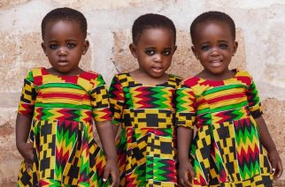 The Awe Moment These Adorable Triplets Were Discovered By Ghana's Popular Photography Twins 'TwinzDntBeg'