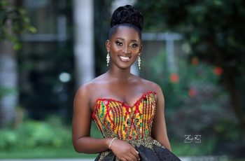 Gh Bridal Designer Reve Teams Up With Miss Malaika To Serve Haute Gowns With Nose Masks From The Collection 'Levend Viel'