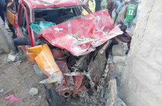 The taxi that killed five on the spot at Tegbi