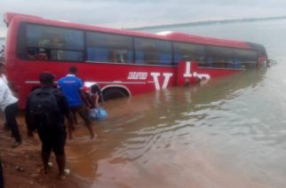 VIP Bus Plunges Into River Oti At Dambai