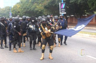 Photos: Ghana Police On A Route March to Assure The Public Of Security For The Upcoming Election