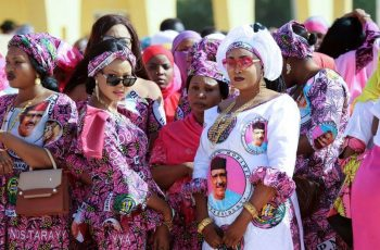 The outfits are co-ordinated to the next level on Tuesday as supporters of the Niger presidential candidate Mohamed Bazoum wait for him at the airport in Agadez. Photo Credit: GETTY IMAGES