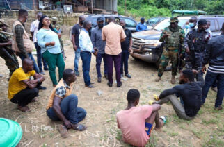 Seven Illegal Miners Caged As Deputy Minister, Taskforce Storm Galamsey Sites