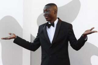 """Khabane """"Khaby"""" Lame, the second most-followed person on TikTok, at the Venice International Film Festival in September."""