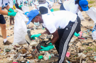 EU Delegation In Ghana, Plastic Punch Embark On Beach Cleanup Exercise