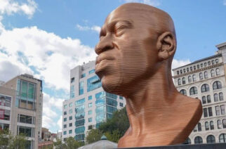 George Floyd Sculpture In New York City Defaced For A Second Time