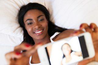 A Lady taking a selfie