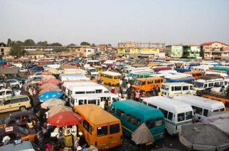 Trotro terminal in Accra