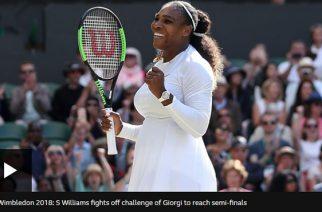 Serena Williams Into Wimbledon Semi-Finals With Win Over Camila Giorgi